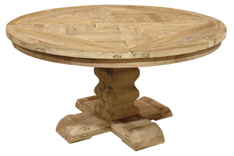 GJ Styles - Round Dining Table in Reclaimed Elm - LD41-NA