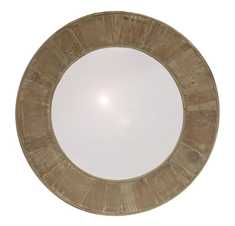 GJ Styles - Round Mirror in Washed Finish - LD45-OL