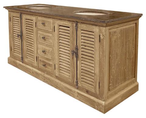 GJ Styles - Pine Louvered Door Cabinet - LD72-OL