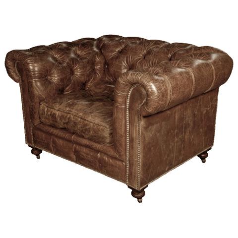 GJ Styles - Kensington Arm Chair in Vintage Cigar - LU36