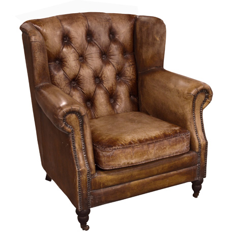 GJ Styles - Florence Arm Chair in Buffalo Leather - RA19