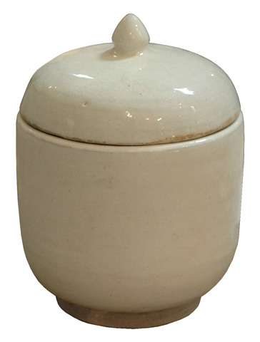 GJ Styles - White Porcelain Pot with Lid - SN117