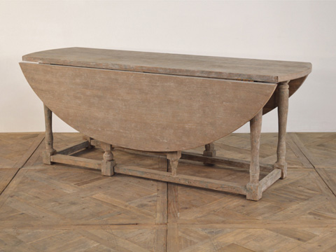 GJ Styles - Oval Drop Leaf Dining Table - SN214