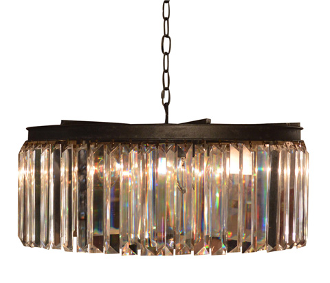 GJ Styles - Optic Crystal Circular Chandelier-Small - RL02
