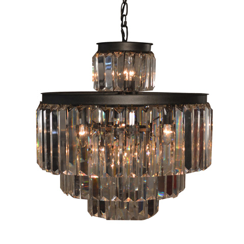 GJ Styles - Optic Crystal Tiered Chandelier-Small - RL04