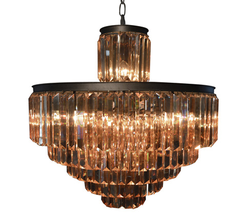 GJ Styles - Optic Crystal Tiered Chandelier-Large - RL05