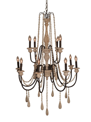 GJ Styles - Swag Chandelier with Wooden Beads - RL09