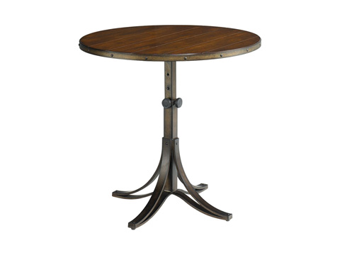 Hammary Furniture - Mercantile Round Adjustable Accent Table - 050-920