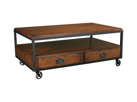 Image of Rectangular Storage Cocktail Table