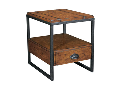 Image of Rectangular Drawer End Table
