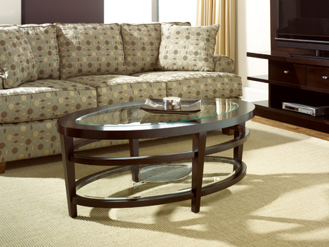 Hammary Furniture - Oval Cocktail Table with Glass Top - T2081506-00