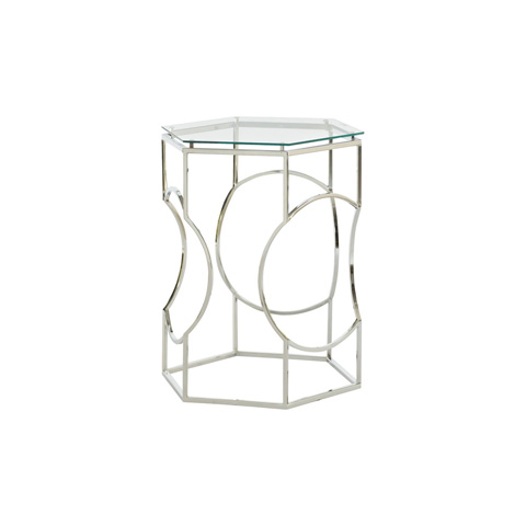 Hammary - Chrome Hex Wire Table - 090-633