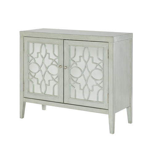 Image of Mirrored Door Accent Cabinet