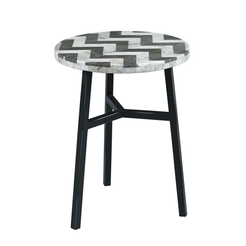 Hammary - Zig Zag Stone Top Accent Table - 090-831