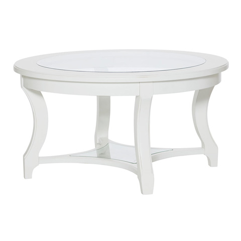 Hammary Furniture - Round Glass Cocktail Table - 416-913