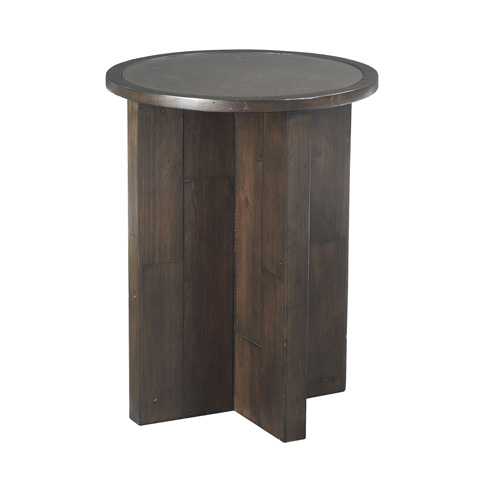 Image of Post and Beam Round End Table