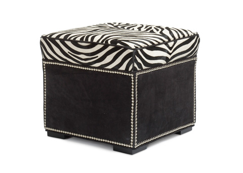 Hancock and Moore - Abbey Ottoman with Border - 037-B