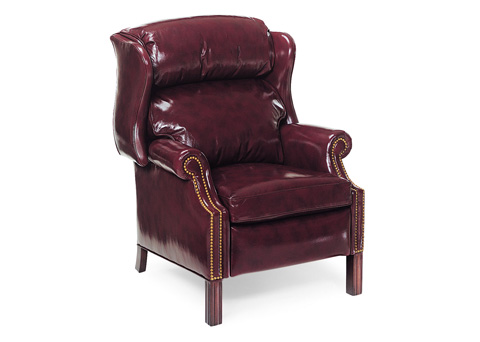 Hancock and Moore - Woodbridge Chippendale Wing Chair Recliner - 1021