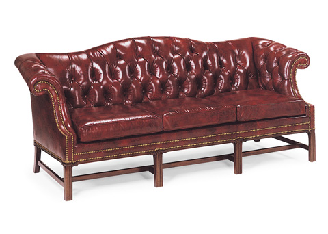 Hancock and Moore - Camelback Leather Sofa - 2865