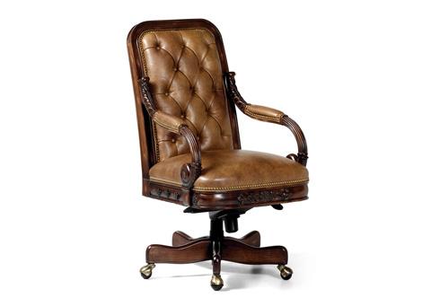 Hancock and Moore - Walton Tufted Swivel Tilt Chair - 4356ST-PL