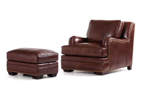 Hancock and Moore - Highlands Leather Chair and Ottoman - 5012