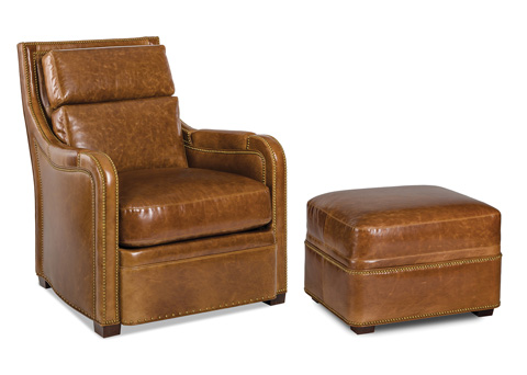Hancock and Moore - Geoffrey Chair and Ottoman - 5981-1