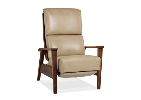 Hancock and Moore - Katie Lounger with Exposed Wooden Arms - 7132-W