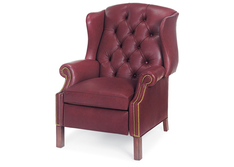 Hancock and Moore - Browning Tufted Wing Chair Power Recliner - 1011-PR