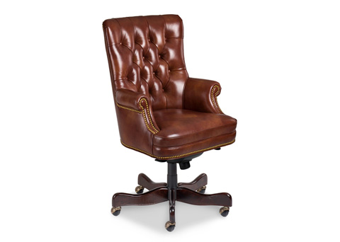 Hancock and Moore - Fremont Tufted Swivel Tilt Pneumatic Lift Chair - 8912ST-PL