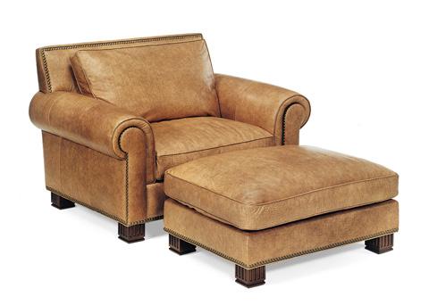 Hancock and Moore - Parisian Chair and Ottoman - 1275/1277