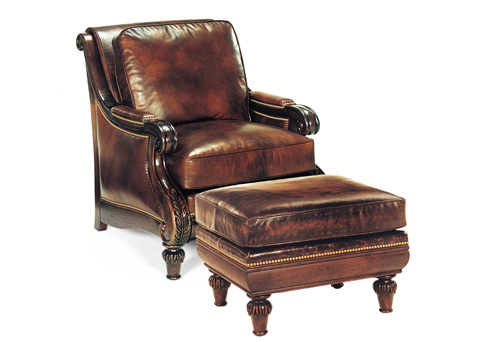 Hancock and Moore - Somerset Chair and Ottoman - 1342/1343