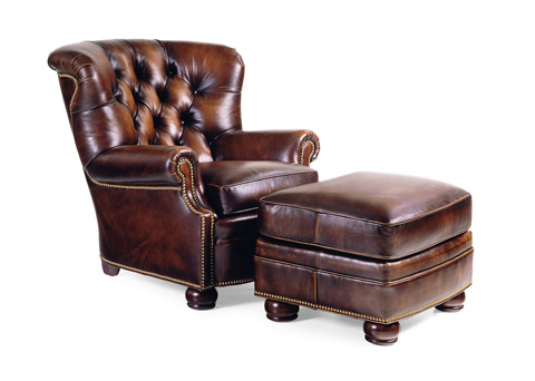 Hancock and Moore - Wallace Tufted Chair and Ottoman - 1785/1786