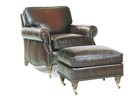 Hancock and Moore - Member Chair and Ottoman - 1901/1902