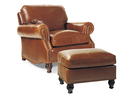 Hancock and Moore - Member Chair and Ottoman - 4104/4105