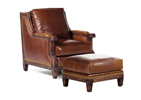 Hancock and Moore - The Tides Chair and Ottoman - 4374/4375