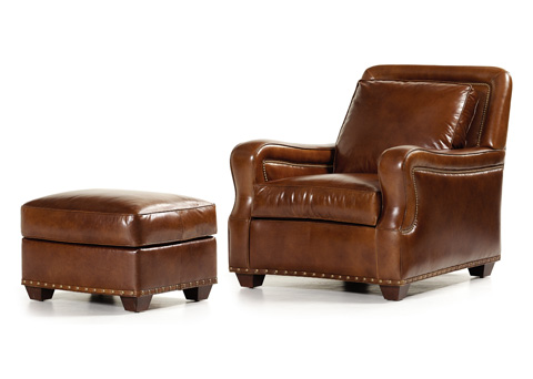 Hancock and Moore - Salvatore Chair and Ottoman - 4828/4829