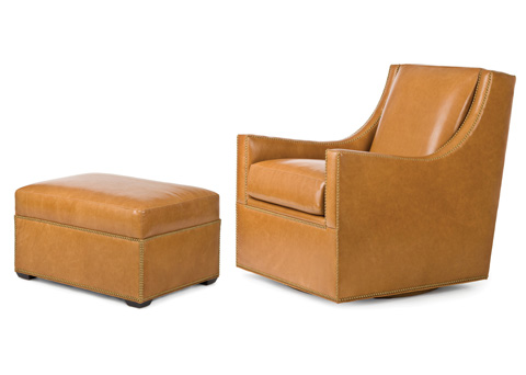 Hancock and Moore - Rosemont Swivel Chair and Ottoman - 5252/5253S