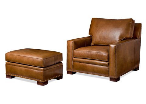 Hancock and Moore - Emilio Chair and Ottoman - 5712-O/5712-1