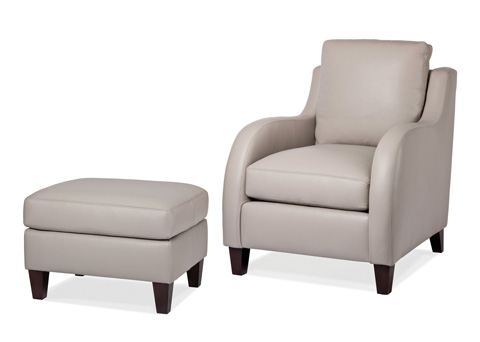 Hancock and Moore - Scoop Chair and Ottoman - 5829-O/5829-1