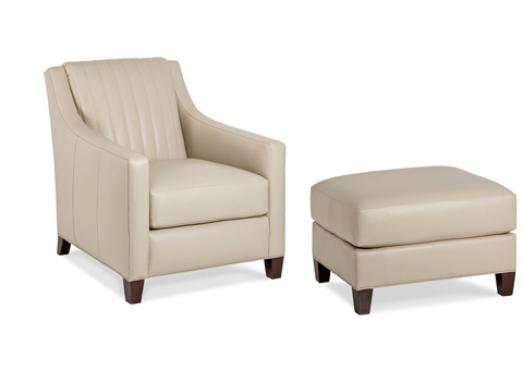 Hancock and Moore - Quin Chair and Ottoman - 6044-O/6044-1