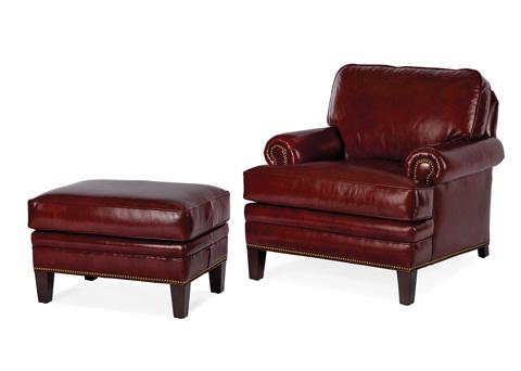 Hancock and Moore - Adair Chair and Ottoman - NC133-O/NC133-1
