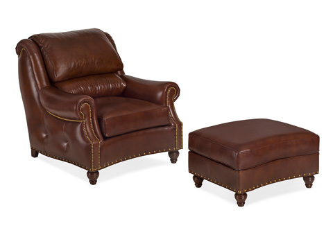 Hancock and Moore - Westwood Chair and Ottoman - 6215-1/6215-O