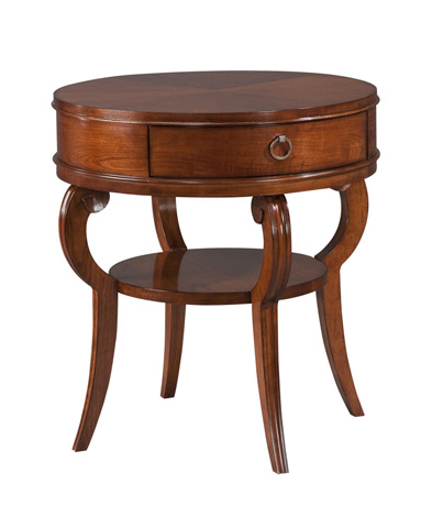 Harden Furniture - Round One Drawer End Table - 527