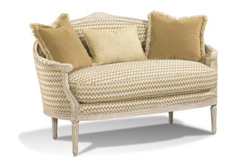Image of Louis XVI Curved Back Settee