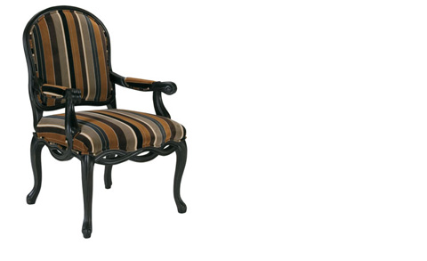 Harden Furniture - Striped Upholstered Arm Chair - 4457-000