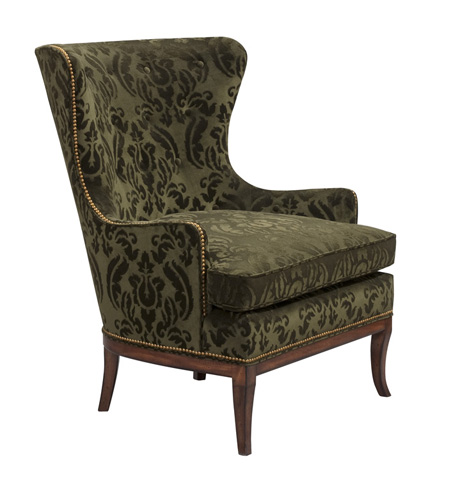 Harden Furniture - Patterned Wing Chair with Nailhead Trim - 7415-000