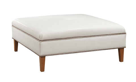 Image of Square Upholstered Ottoman