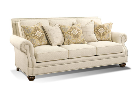 Image of Roll Arm Straight Back Sofa