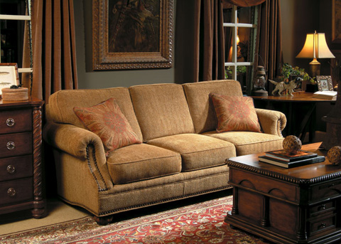 Harden Furniture - Panel Arm Sofa with Bun Feet - 7649-089