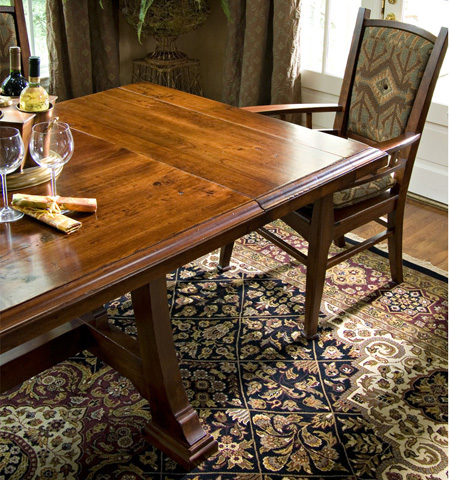 Harden Furniture - Napa Trestle Table with Leaves - 1698
